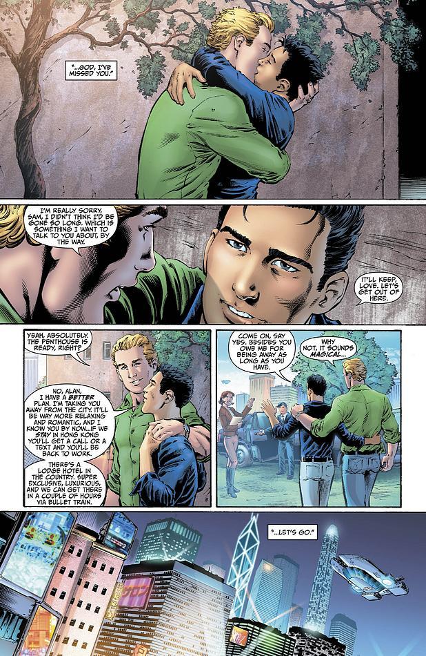 O beijo do Lanterna Verde com seu namorado homossexual