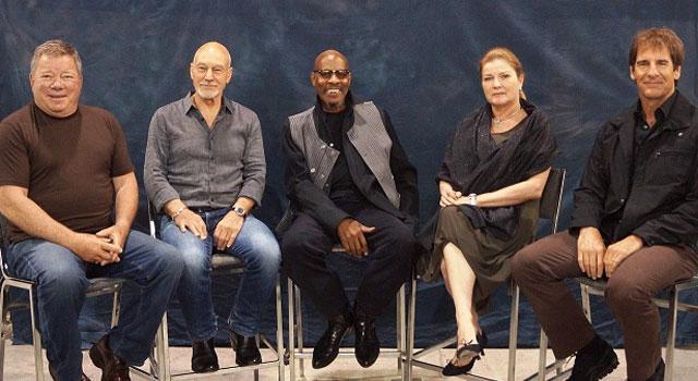 Os cinco capitães de Star Trek juntos pela primeira vez