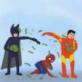 Batman, Homem de Ferro e Homem-Aranha