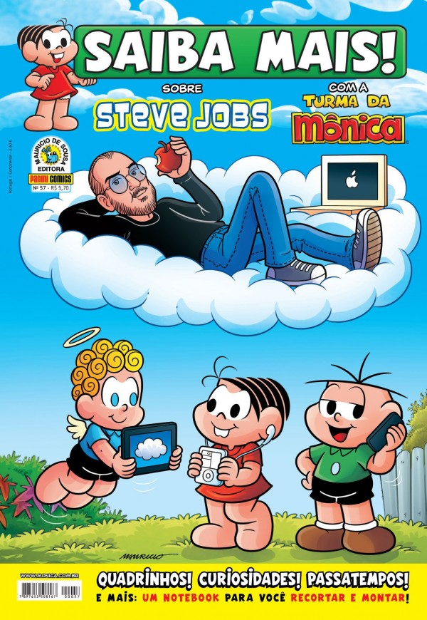Steve Jobs em a Turma da Mônica
