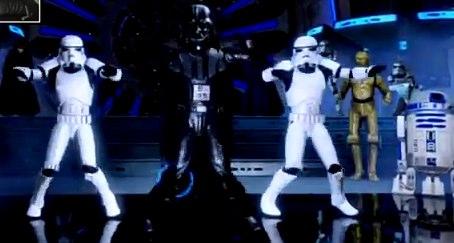 Vader e o Imperador dançam em Star Wars Kinect