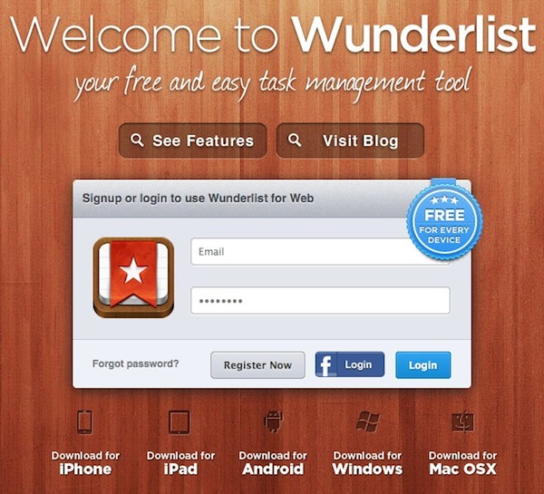 Wunderlist - A Lista para casais
