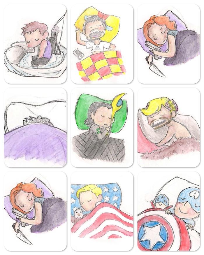 Como Os Vingadores dormem