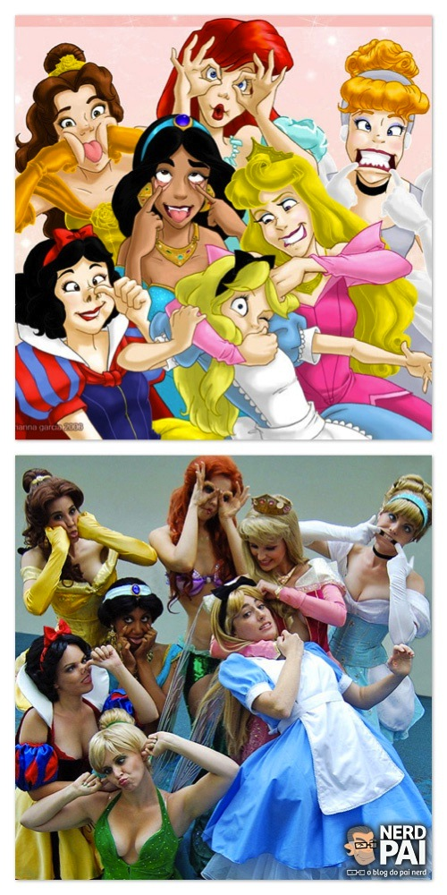 Cosplay Princesas Disney - Caretas