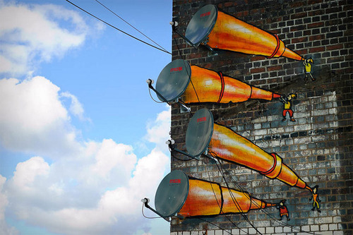 Arte em parabólicas - Street Art