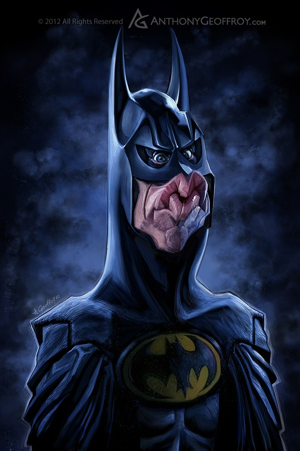 Batman e seus atores Michael Keaton