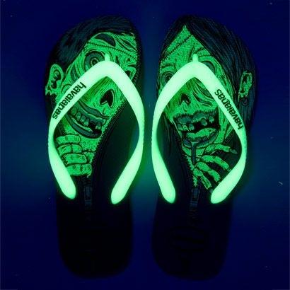 Chinelos Havaianas Zumbi - e brilha no escuro