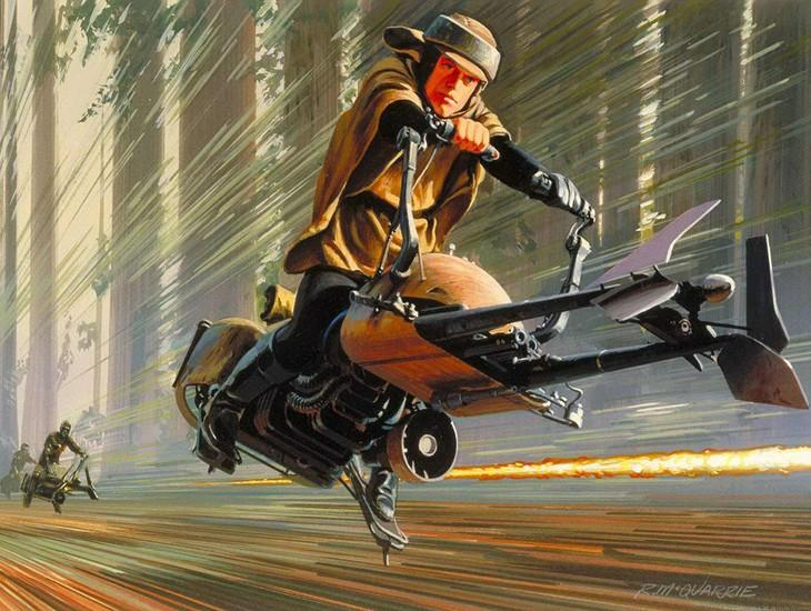 E criaram a Speeder bikes de Star Wars