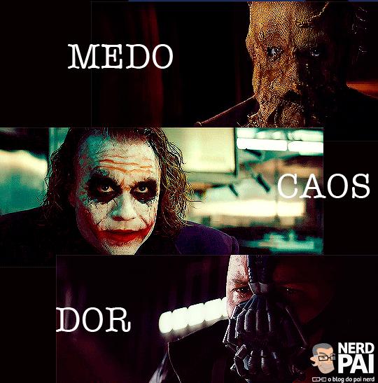 Medo, Caos e Dor - A trilogia de Batman