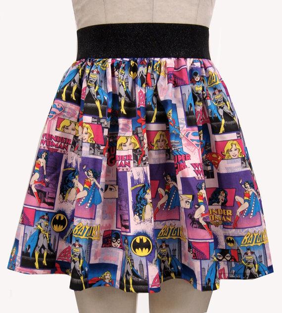 Saias de Super-Heróis mulher maravilha batgirl supergirl