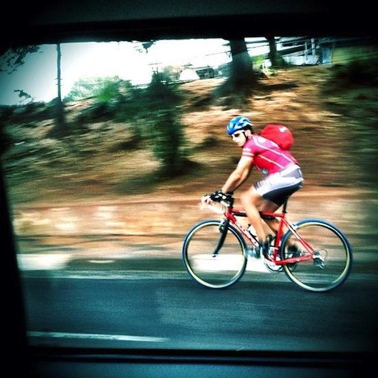 ciclista na radial leste São Paulo