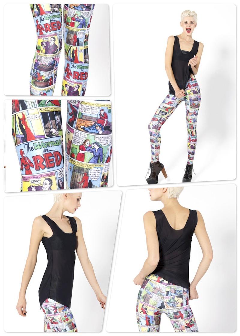 vestido e meia nerd quadrinhos