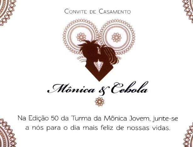 O Casamento de Mônica e Cebolinha - Convite
