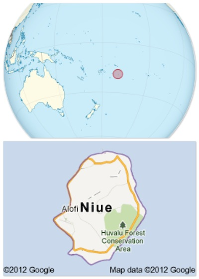 Rocha da Polinésia Niue