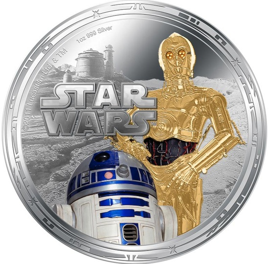 moedas de Niue star wars coin