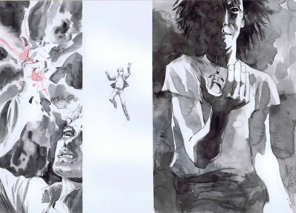 Storyboards do filme de Sandman
