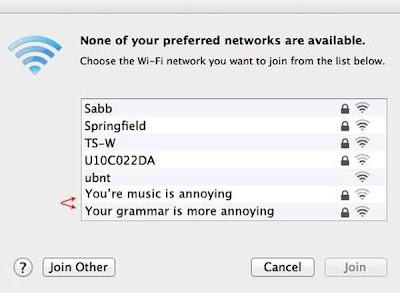 Conversas pelos nomes das redes Wi-Fi