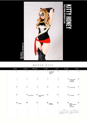 Calendário Comicbook Cosplay de Heroínas 2013