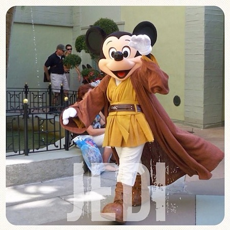 Mickey Jedi - Star Wars e Lucas Film