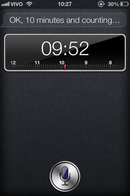 Siri timer iPhone