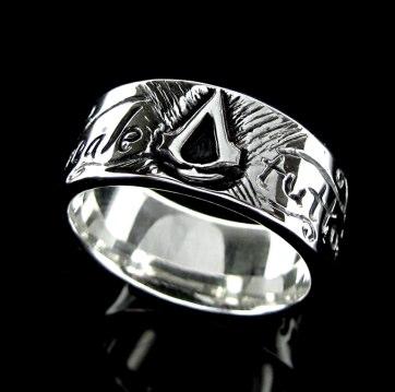 Anel Folheado a Prata - Assassins Creed - 1087P