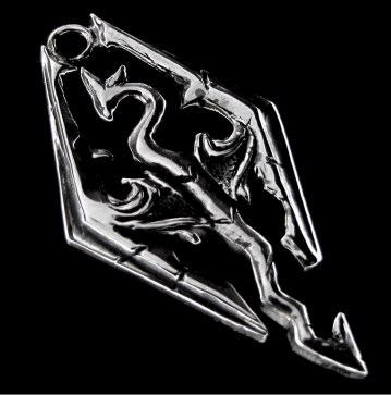 Pingente em Prata 925 - Skyrim - Edição Especial - 1090