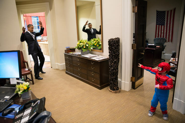 Obama e o Homem Aranha