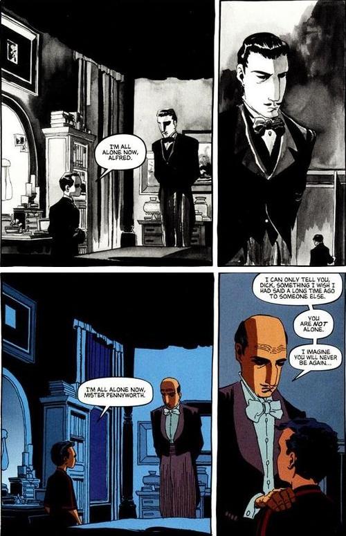 Alfred foi um pai para Bruce