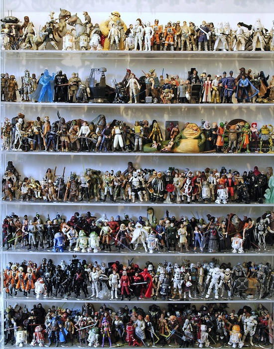 Leilão de 2000 Actions Figures da Saga Star Wars