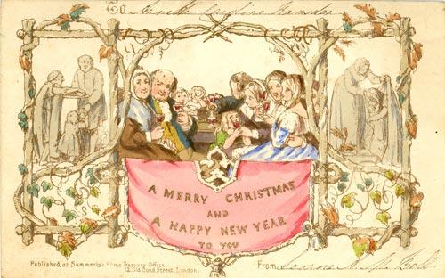 O primeiro cartão de Natal