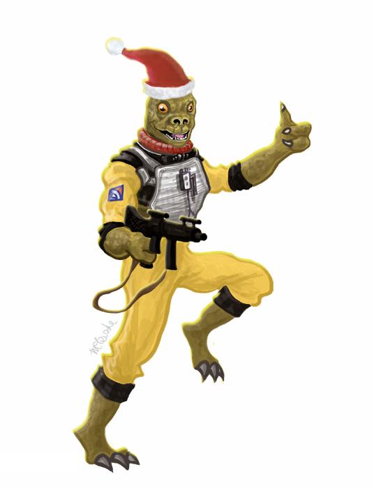 Cartão de Natal Star Wars