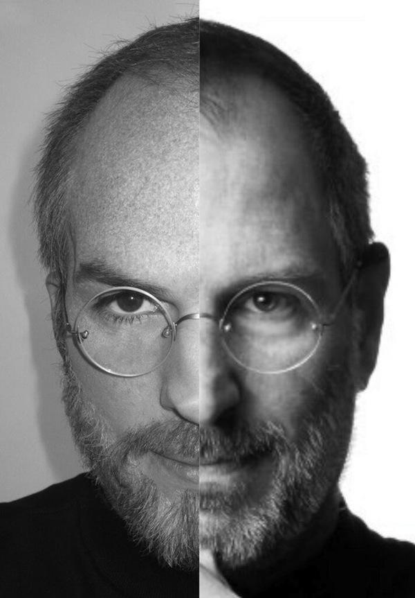 Ashton Kutcher e Steve Jobs lado-a-lado