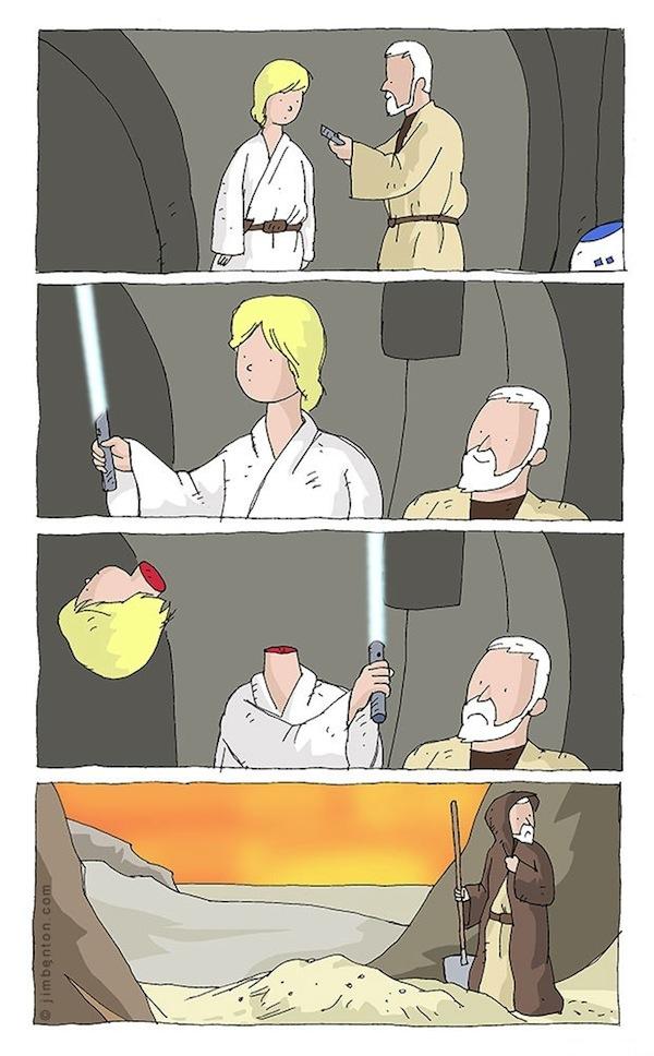 Luke Skywalker sempre foi um grande espadachim