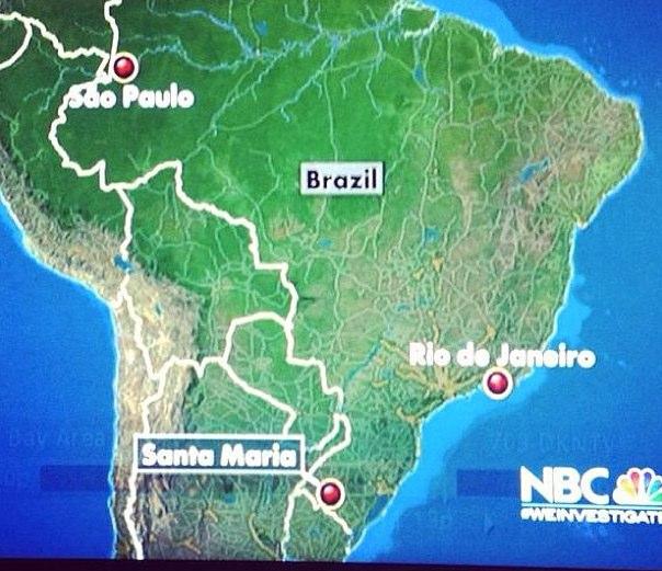 NBC confundiu São Paulo com São Paulo de Olivença