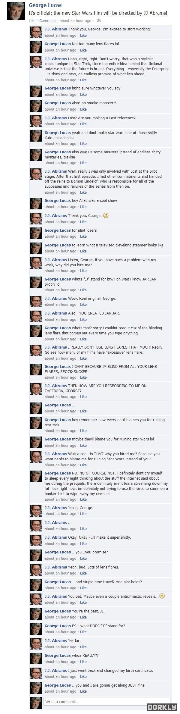 Uma conversa entre George Lucas e JJ Abrams