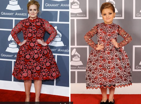 Adele with her toddler doppelganger. | MTV Photo Gallery
