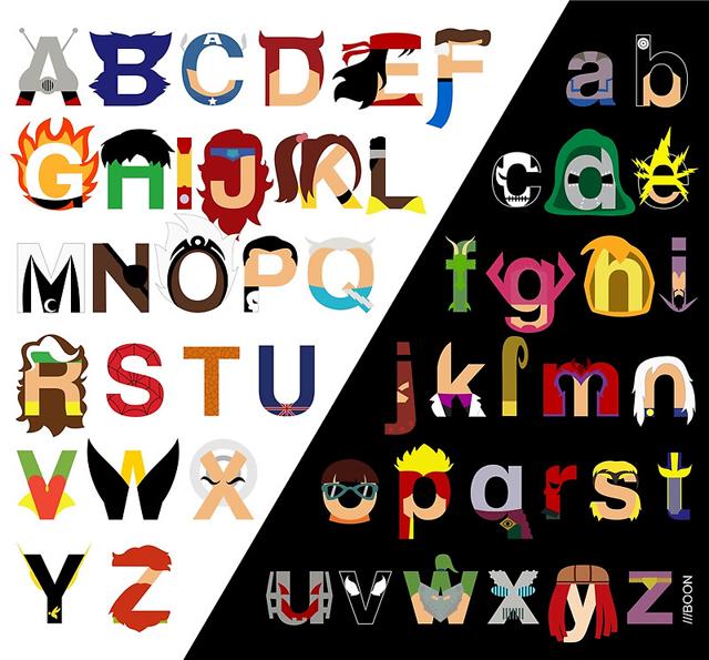 Alfabeto Marvel - 26 vilões e 26 heróis