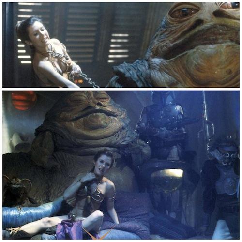 Jabba e Leia - Bolsa