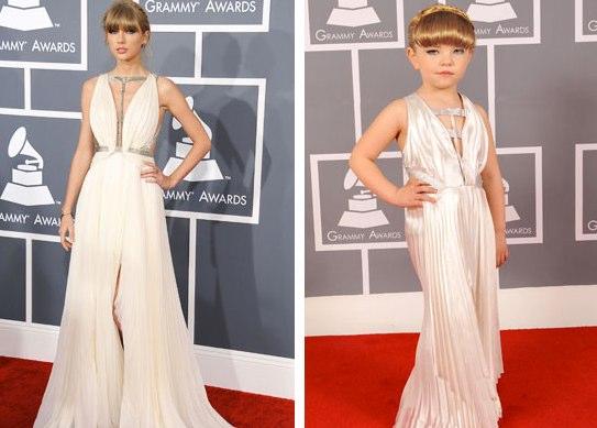 Taylor Swift alongside her mini-self. | MTV Photo Gallery