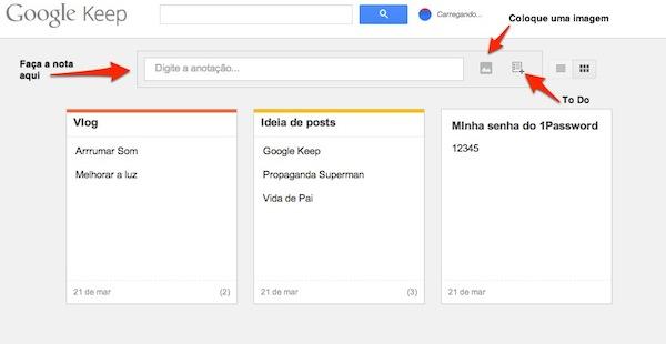 Google lança o Keep - Eu teria cuidado em usar esse serviço