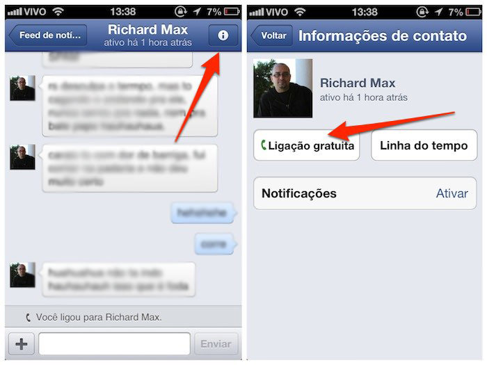 Ligações gratuitas pelo Facebook no Brasil 02