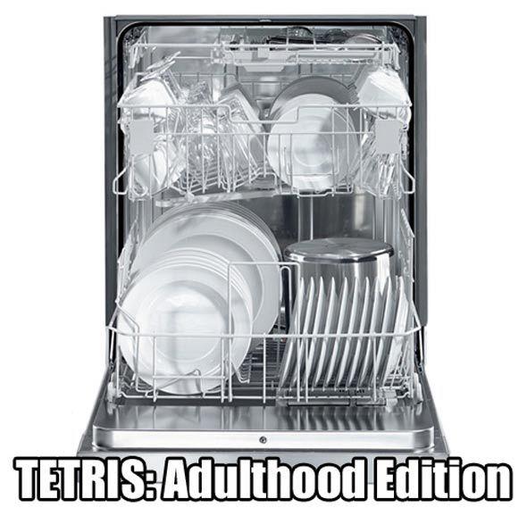 Tetris e máquina de lavar