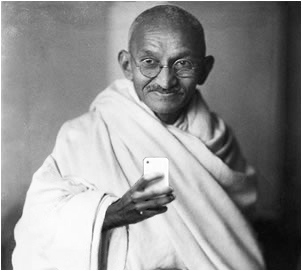 gandhi_selfie