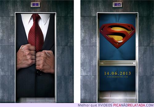 superman - propaganda elevador