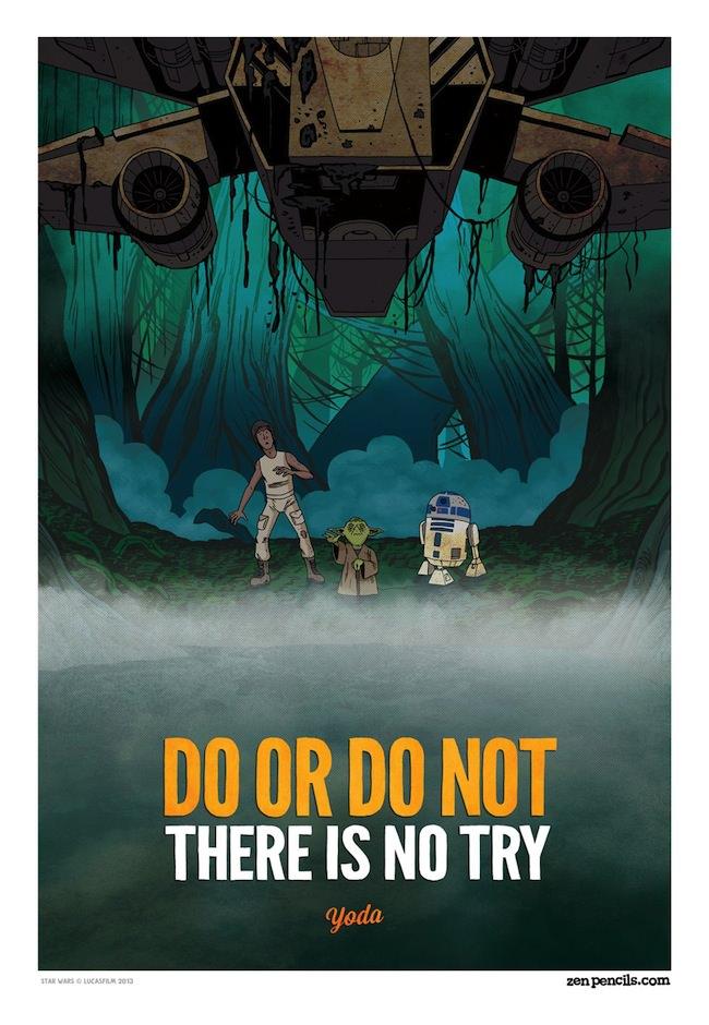 Conheça o Zen Pencils Yoda