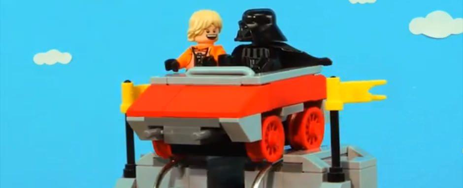 Darth Vader e Luke comemorando o Dia dos Pais
