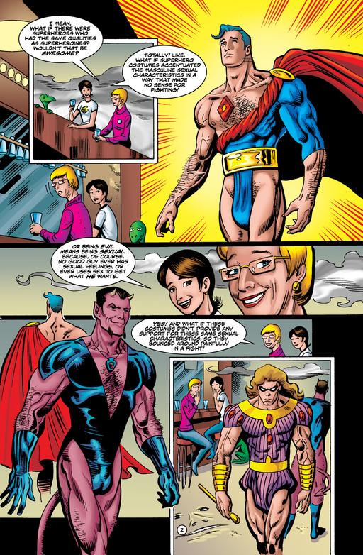 E se os homens tivessem o mesmo tratamento das mulheres em quadrinhos