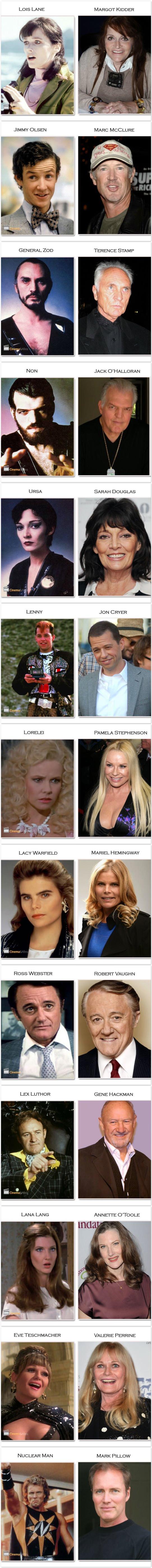 Superman atores antes e agora