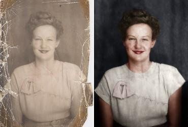 restauração de foto