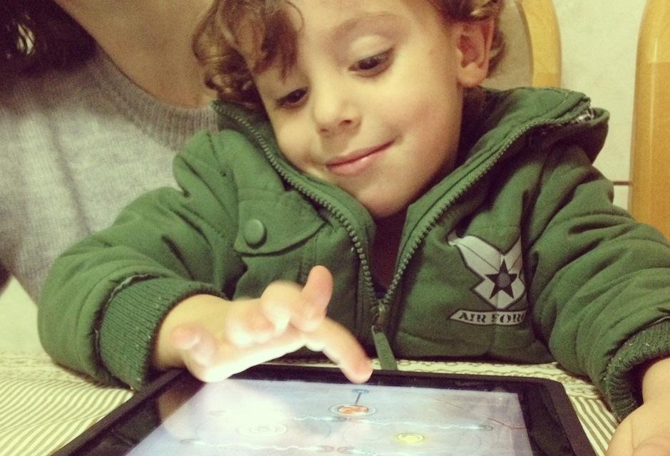 Tablet e as crianças